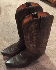 Lucchesse 1883 Brown Cowboy Boot Size 9EE All Leather Snip Toe