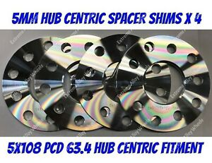 50MM 5X108 63.4MM Hubcentric Wheel Distanziale KIT UK MADE Ford Transit Connect