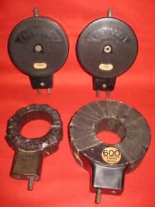 Four Rare Vintage Radio parts, 2 LEWCOS indicator coil. 2 Burndept Plug-in Coil