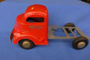 Vintage Smith Miller Smitty Toys Flat Bed GMC Truck 132.5 Chassis 1940's Coke?