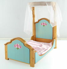 AMERICAN GIRL  Marie-Grace & Cecile's Half Canopy Bed & Bedding