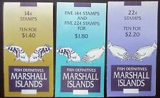 Marshall islands 1988 Fish Stamp Booklets.$1.40,$1.80,$2.20. MNH