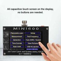 "2020 Mini600 4.3"" Touch LCD 0.1-600MHz HF/VHF/UHF ANT SWR Antenna Analyzer Meter"