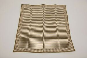 NWT Brunello Cucinelli Men's Pinstripe + Houndsooth Border Pocket Square  A201