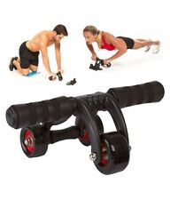 3 Wheel Ab Roller Fitness Exercise Abdominal Muscle Workout Gym Training System
