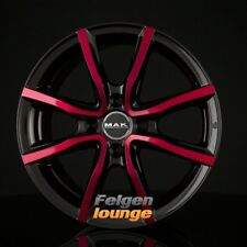 4 CERCHI IN LEGA MAK Milano 4 Black & Red 6,5x16 et35 4x100 ml72 NUOVO