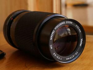 Vivitar 70-210mm F4.5-5.6 Macro Zoom Lens Canon FD Mount Macro Excellent