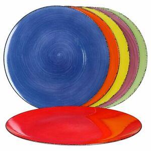6x Platzteller Uni bunt Unicolour 6 Farben Unterlage Deko-Accessoire Platz-Set