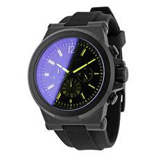 Michael Kors Dylan Black Dial Chronograph Silicone Men's Watch 48mm MK8406