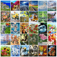 40x50cm Paint By Number Wild Animal Wolf Castle Flower DIY Painting Canvas Frame