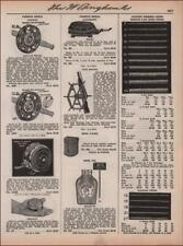 FISHING REELS, CASTING, CASES, OIL, COTTON LINES, vintage catalog pg. 1935