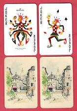 Single Swap Playing Cards JESTER JOKERS MULTI-LIMBED HALLMARK WIDE COLOR FIGURES