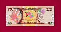 GUYANA UNC COMMEMORATIVE  BANKNOTE: 50 Dollars ND (1966 - 2016) (Pick -41)