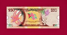 GUYANA UNC COMMEMORATIVE  BANKNOTE: 50 Dollars ND (1966 - 2016) (Pick -41)