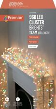 Premier 960 Multi-Action LED Cluster Christmas Lights with Clear Cable - MULTI