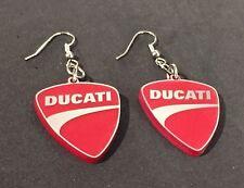 Orecchini Ducati Earrings in plexiglass riproduzione artigianale ARGENTO-ROSSI