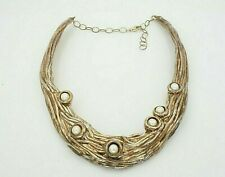 """Sterling Silver 925 Pearl V Neck Collar Choker Necklace 18"""""""