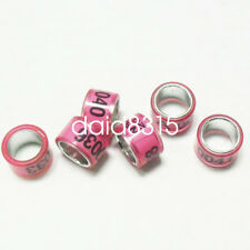 100pcs*7mm personal pigeon band ring aluminium&plastic name logo leg year number
