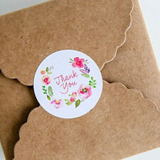 100x Thank You Stickers Flower Paper Labels Sticky Seals Packaging Craft 3.5cm