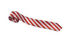 Mens Stripe Ties Neon Unisex Stag Night Hen Parties School Girl St Trinians Goth