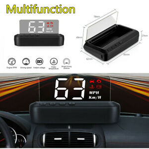 OBD2 HUD Mirror Car Head Up Display Projector Security Alarm Speedometer C100