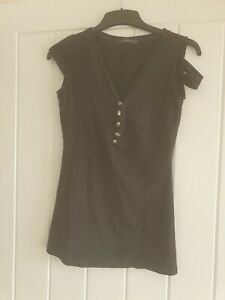 Punk Rave Black Skull Top Industrial Goth Small