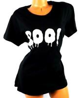 Gildan black  boo! women's plus size short sleeve crew neck halloween top XL