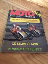 MOTO JOURNAL 1973 N° 146 Mobylette bleu , Salon Lyon , gamme Husqvarna , poster