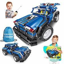STEM Toys Gift for Boys & Girls Age 6yr-14yr, 2-in-1 Remote Control Car Build