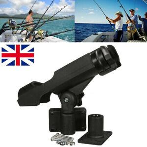 Adjustable 360 Degree Fishing Rod Holder Rack Stand Kit For Boat Kayak Yacht UK