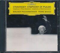 Stravinsky Symphony Of Psalms CD NEW Pierre Boulez Berlin Philharmonic