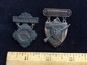 Antique shooting medals
