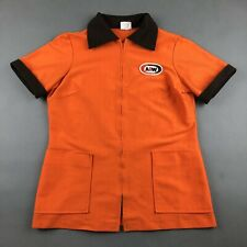 Vintage  A&W Root Beer Restaurant Employee Carhop Uniform Shirt Size XS / S