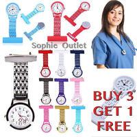 Steel Quartz Watch Nurse Watch Brooch Tunic Doctor Fob Watch Medical Watch B3