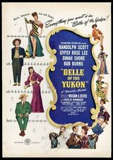 1945 Belle of the Yukon movie release Gypsy Rose Lee photo vintage print ad