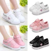 Kids Child Sneakers Boys Girls Flat Mesh Toddler Sporty Hook Loop Sport Shoes