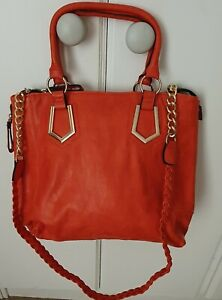 Large Orange Shoulder/tote Bag