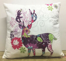1x Simple painting Christmas deer Home Decor sofa Cushion Covers Pillow Case 18'