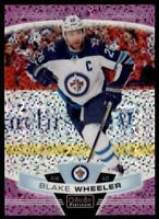 2019-20 OPC Platinum Violet Pixels #83 Blake Wheeler /399 - Winnipeg Jets