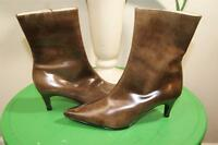 Bruno Magli LIGHT BROWN ankle boots size 34 US 4 (BOTA500)