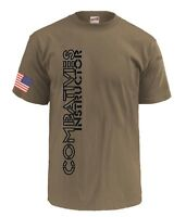 Army Combatives Instructor Shirt MACP Tan 499 Soffe 100% Cotton