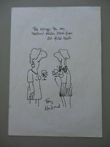 Original Signed Drawing/Cartoon Dentistry Theme - Tony Husband