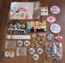 Lot of The Beatles Memorabilia Nodders Pins Trinkets Postcards Pencils Fan Merch