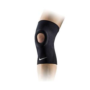 Nike Pro Open Patella Knee Sleeve Support Brace Injury Compression Comfort