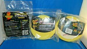 "Three Meguiar's Soft Buff Foam Disc Pad Washable & Reusable 6.5"""