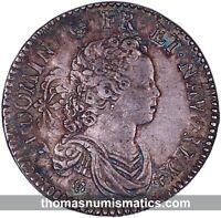 FRANCE - Louis XV - 1/2 ecu vertugadin 1716 A