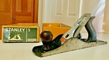 Vintage 1950's Stanley Bailey Smooth Plane No.5 With Box All Original+Beauty!
