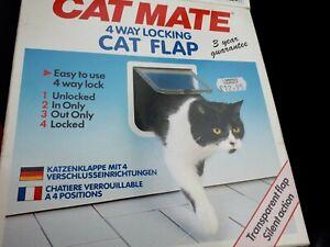 Cat Door 4 Way Locking Cat Flap Door for Interior Exterior Doors for Cats&Doggie