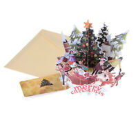 Merry Christmas Xmas Fairy Creative 3D Pop UP Greeting Party Cards Gift HF