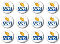 12 X CLAP FOR CARERS - BUTTON PIN BADGES - 1 inch / 25mm + 10% DONATION TO NHS
